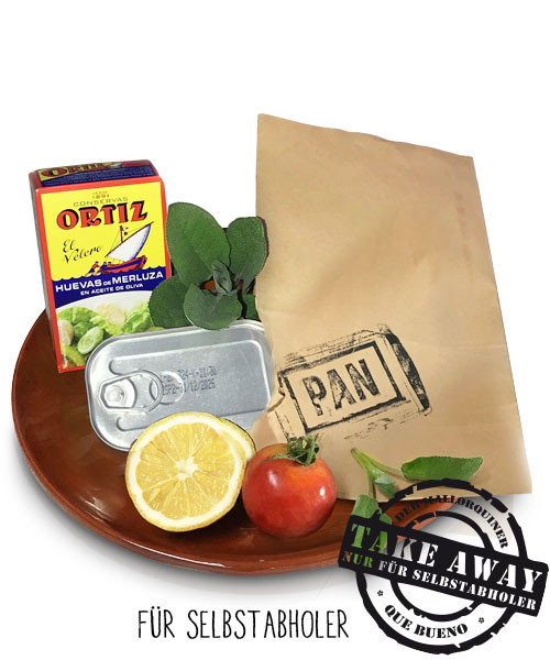 Huevas de Merluza en Aceite de oliva Ortiz - Würziger Seehechtkaviar in Olivenöl, 110gr