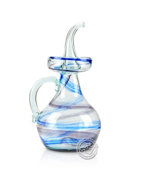 """Glashandwerk aus Mallorca """"Aceitera antigua azul-negro"""" - typischer Öl- Essigausgießer 0,5 l,je Stüc"""