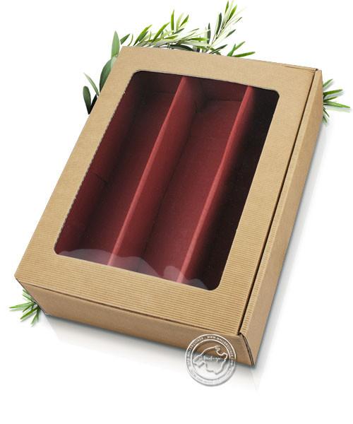 Geschenkverpackung mit Sichtfenster, Grußkarte optional