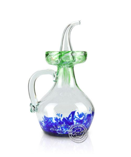 """Glashandwerk aus Mallorca """"Aceitera antigua azul-verde"""" - typischer Öl- Essigausgießer 0,5 l,je Stüc"""