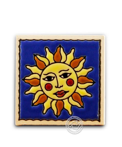 "Fliesen aus Mallorca Reliefmagnetfliese ""Sol"" 5,5 cm x 5,5 cm"