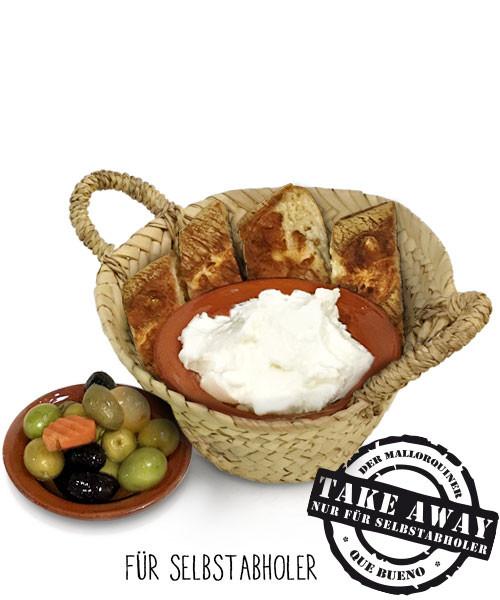 Pan/Aceitunas/Alioli - Brot/Oliven/Aioli