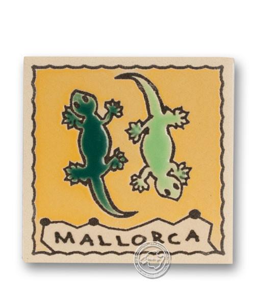 "Reliefmagnetfliese ""Doppel-Gecko"", je Stück"