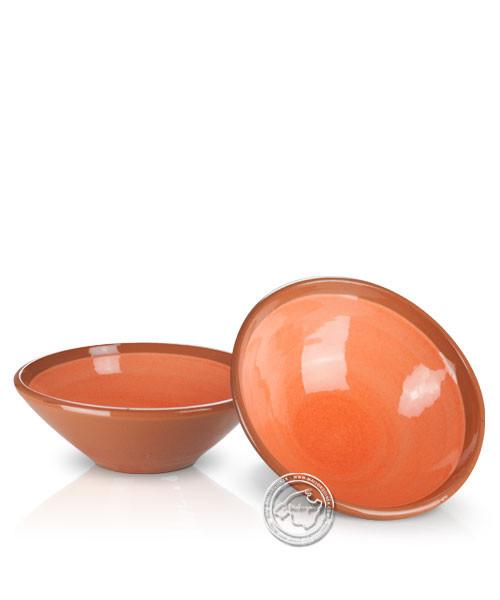 Platitos Mini - Schale volllasiert braun außen, innen orange, rund 10 cm