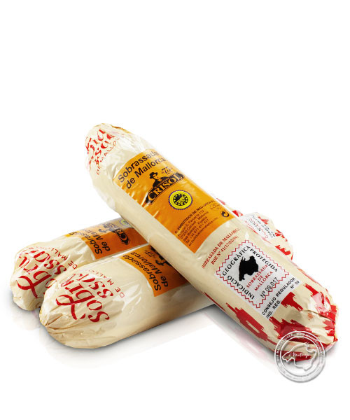 Embotits de Mallorca - Crisol Sobrasada dulce, Arte 500 Paprikastreichwurst, im Kunstdarm, 500 g