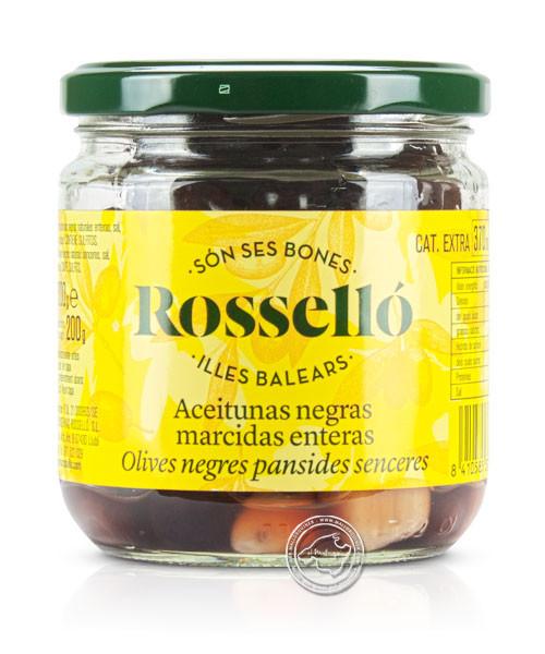 Rossello Aceituna Marcida Negra Natural, 300-g-Glas