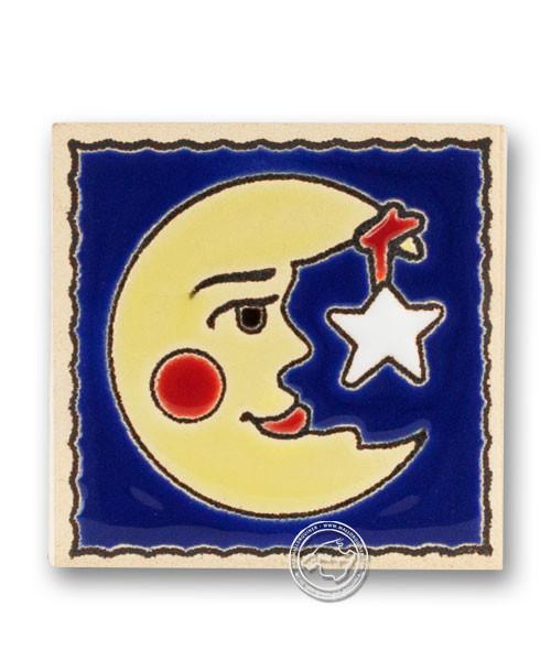 """Reliefmagnetfliese """"Mond und Stern"""", je Stück"""
