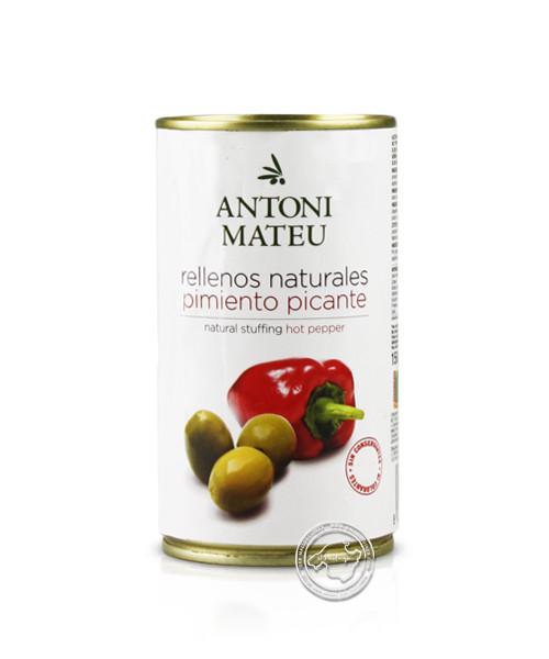 Olives Rellanas Sabor Pimiento Picante Lata, 350-g-Dose