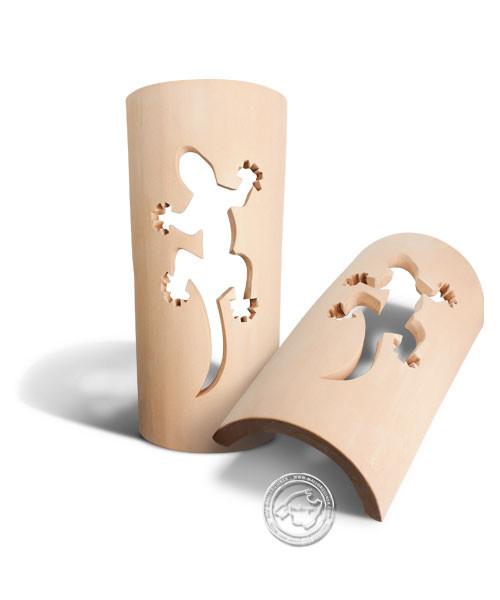 Keramik / Licht / Kunst Campos, Tejs Drage - Dachschindelleuchte natur Gecko, klein