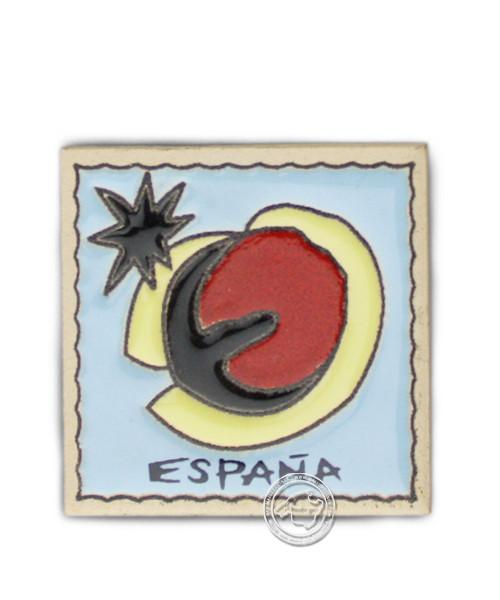 Reliefmagnetfliese mit Espana-Motiv, je Stück
