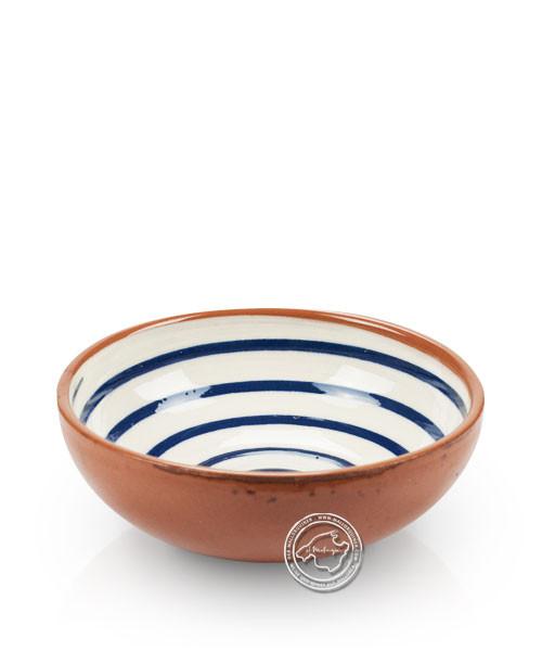 Schale, Spiralmuster weiß/blau, volllasiert 10 cm, je Stück