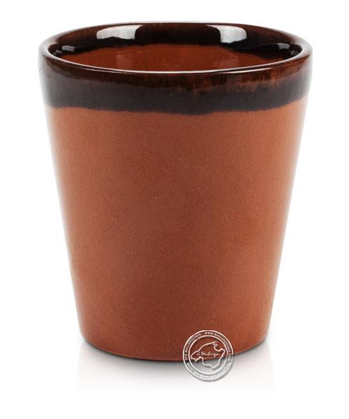 Weinbecher Conic mit Rand aus Ton volllasiert 8 x 7 cm, je Stück