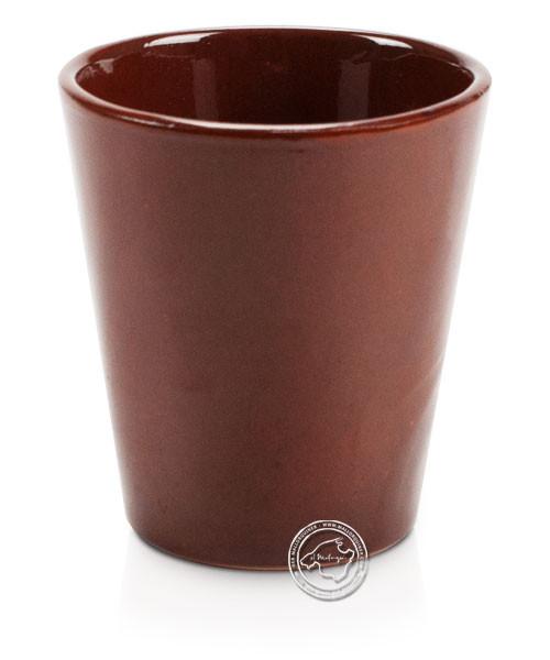 Weinbecher Conic aus Ton volllasiert 9 x 7 cm, je Stück
