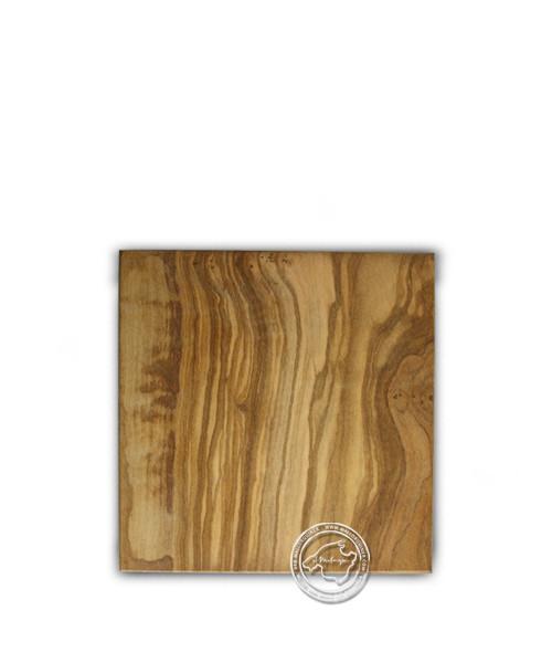 "Olivenholzhandwerk aus Mallorca Olivenschneidebrett ""línea"" 15 x 15 cm"