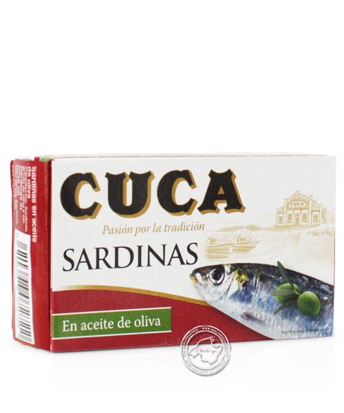 Cuca Sardinas en aceite de oliva, 85g-Packung