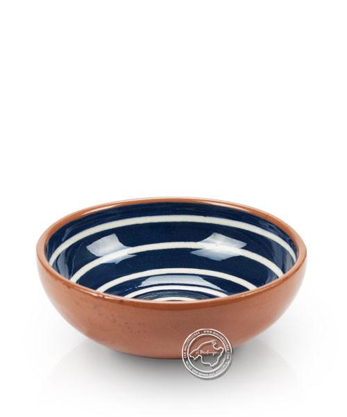 Schale, Spiralmuster blau/weiß, volllasiert 10 cm, je Stück