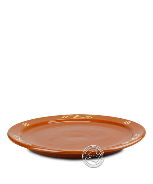 Teller-Campo-Serie, volllasiert mit Oranment, je Stück