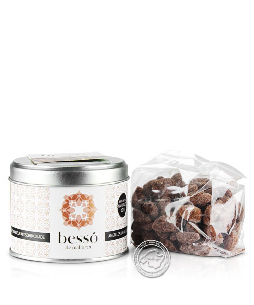 Bessó de Mallorca Almendras azu. con Chocolat, Mandeln mit Schokolade, 120 g