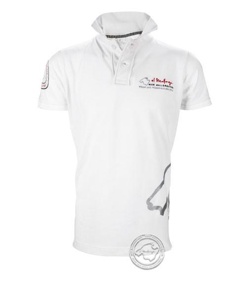 Der Mallorquiner Polo-Shirt weiß Herren Logo gestickt