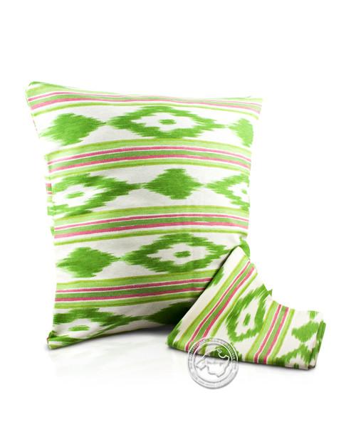 Funda llengues - Kissenüberzug im llengues-Muster, grün/pink, 45x45 cm