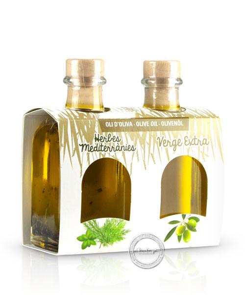 Mallorca Verda - Pack Oli d´oliva verge extra i Oli herbes medite., 100 ml. x 2