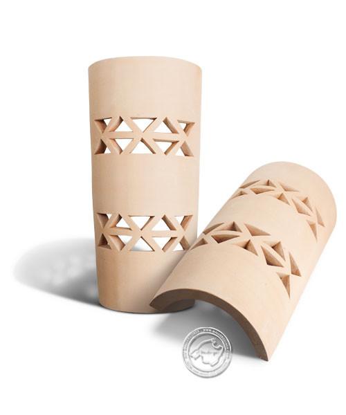 Keramik / Licht / Kunst Campos, Tejs Triangulets - Dachschindelleuchte natur Dreiecke, klein