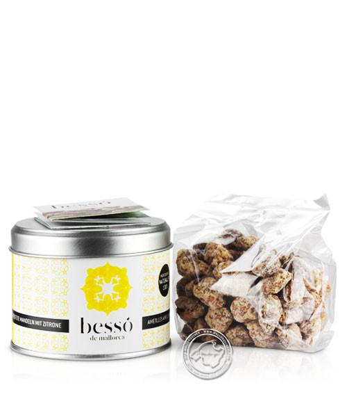 Bessó de Mallorca Almendras azu. con Limon, Mandeln mit Zitrone, 120 g
