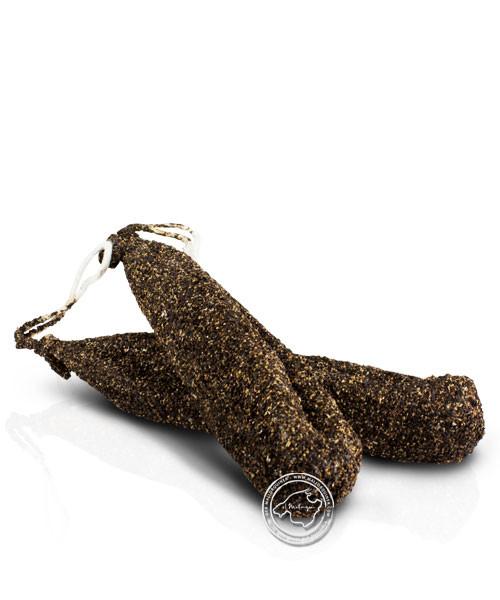 Mestre Llonganisser Llonganissa Extra Pebre Negre - Gewürzsalami mit schwarzem Pfeffer / grob, 300 g