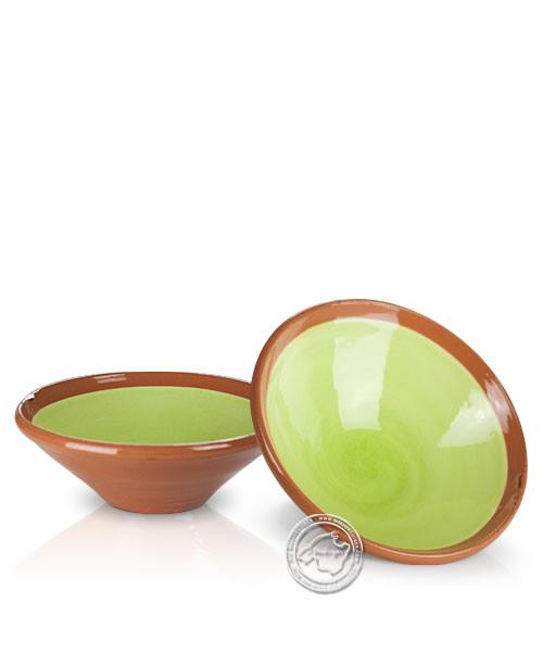 Platitos Mini - Schale volllasiert braun außen, innen hellgrün, rund 10 cm