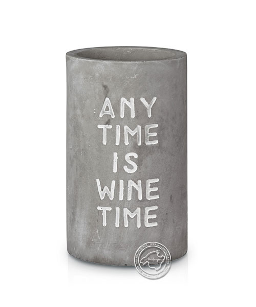 "Flaschenkühler ""Any time is wine time"""